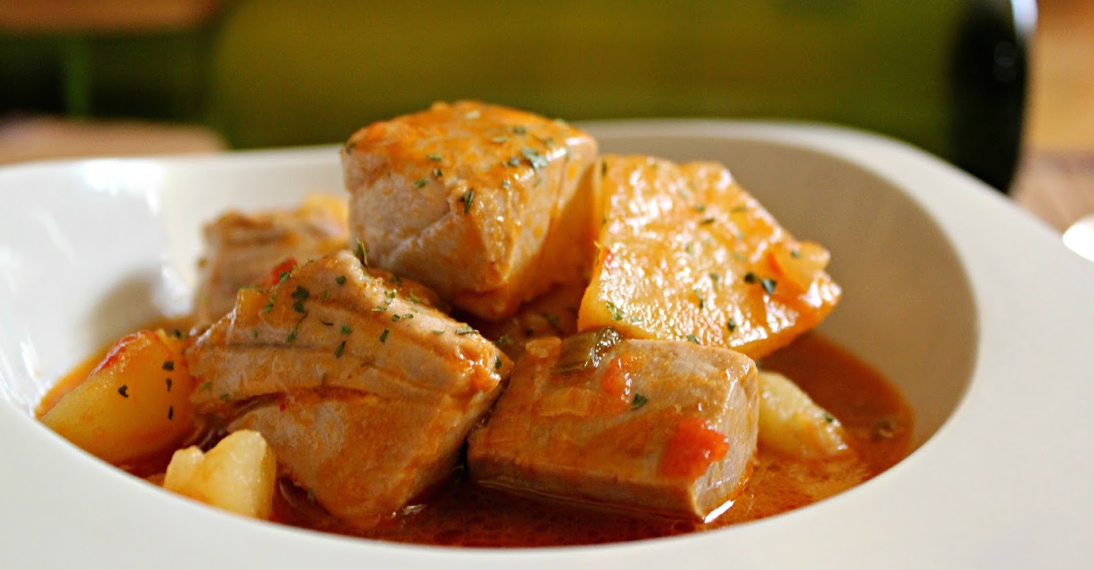 Marmitako fresh tuna and potato stew for Fresh tuna fish recipes